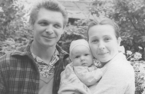 Эдуард Хиль с семьей