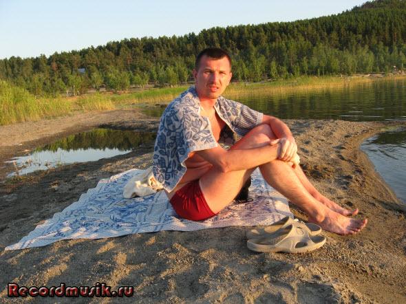 Мой отдых на озере Чалкар - вечером яркое солнце