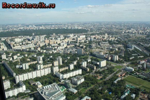 Отдых в Москве и Подмосковье - Останкино, вид на Москву