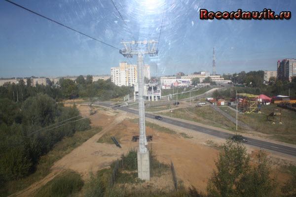 Мой отдых в нижегородской области - Нижний Новгород, канатная дорога, подъезжаем к городу Бор