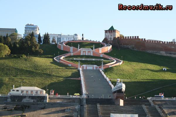 Мой отдых в нижегородской области - Нижний Новгород, прогулка по Волге, лестница Чкалова