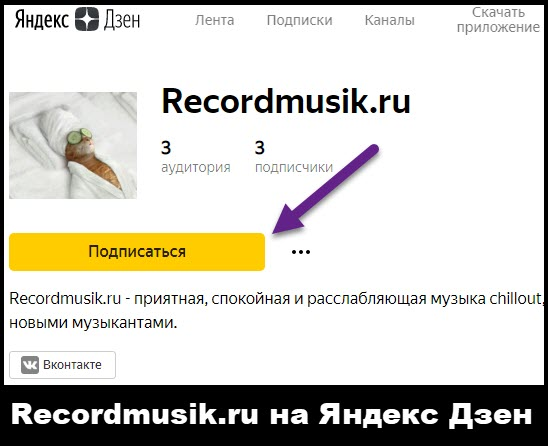 Recordmusik.ru читать на Яндекс Дзене