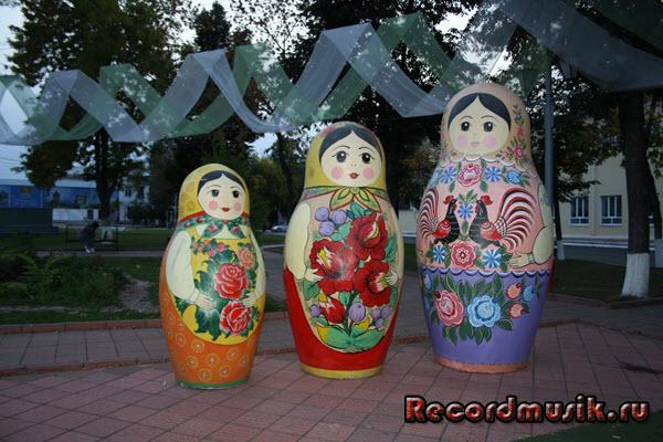 Мой отдых во Владимирской области - Муром, матрешки на главной площади
